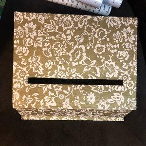BHLDN Gold Wedding Cardbox